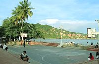 Zihuatanejo's basketball court