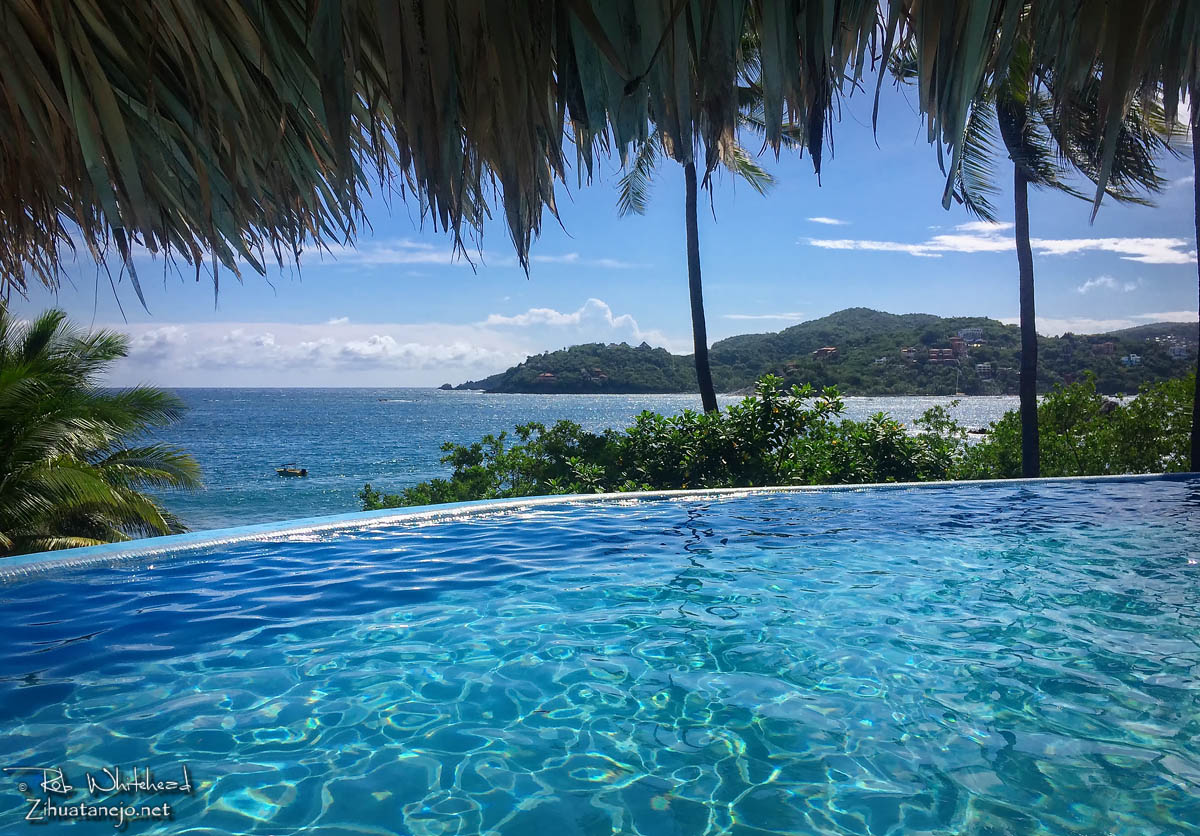 View from Hotel Catalina of Zihuatanejo Bay