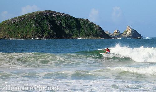 Surfer at the Karma Surfer National Competition at Las Escolleras, Ixtapa