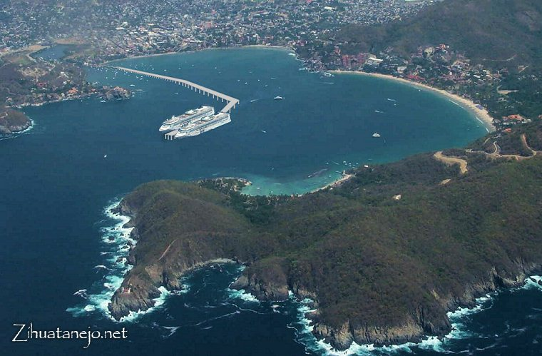 possible graphic of proposed new cruise ship pier in Zihuatanejo Bay